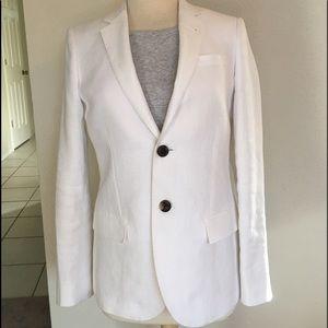 J. Crew Ludlow White Linen Blazer Size 6